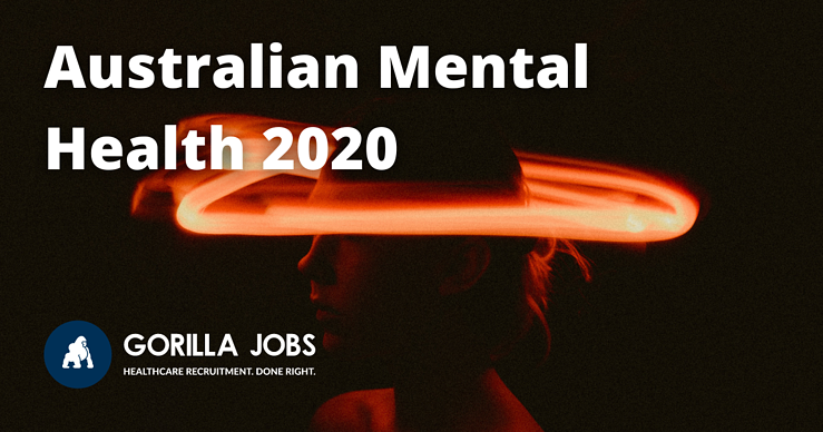 Gorilla Jobs Blog Australian Mental Health Orange Glow Around Silhouette Of A Head