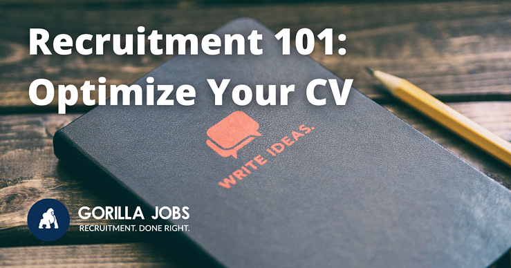 Gorilla Jobs Blog 3 Resume tips to optimise your cv notepad and pencil to write ideas on cover