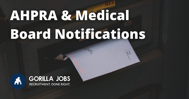 Gorilla Jobs Blog AHPRA and Medical Board Notifications Letter Coming Through Mailbox