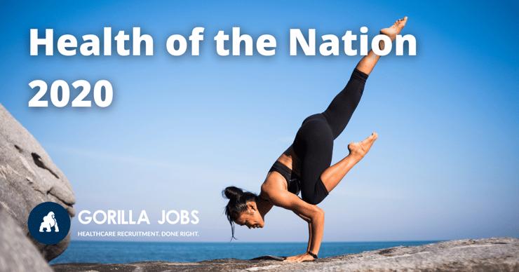 Gorilla Jobs Blog Health of the Nation Report Woman Doing Upward Yoga Pose On Seaside Cliff