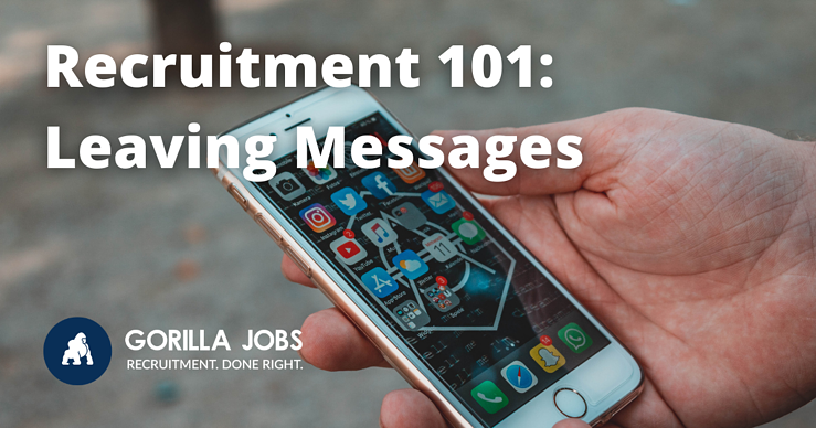 Gorilla Jobs Blog How to Leave Messages so Recruiters Call Back Smartphone With Notifications on Multiple Apps