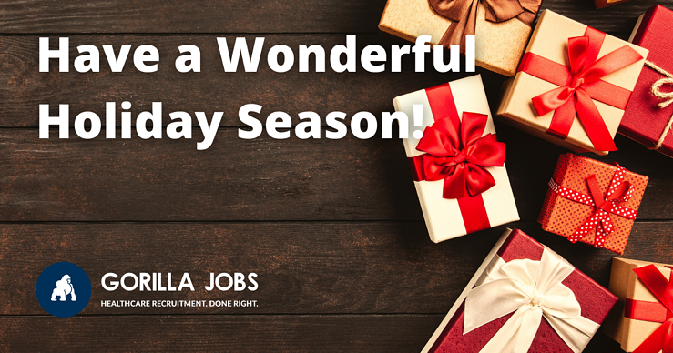 Gorilla Jobs Blog Wishing Everyone Happy Holiday Season Christmas Gifts Wrapped In A Circle