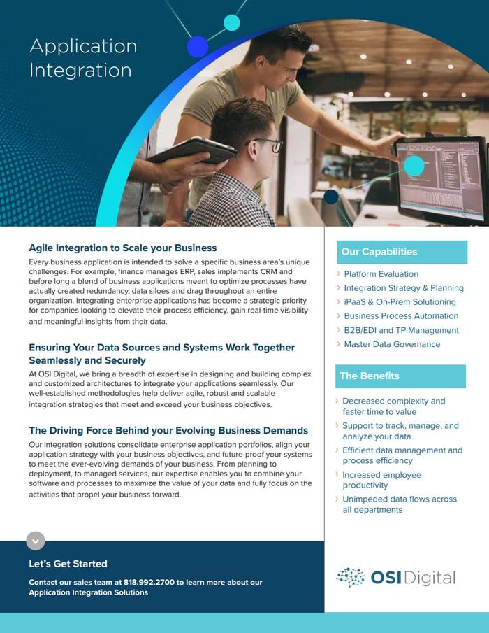 Data Sheet:Application Integration