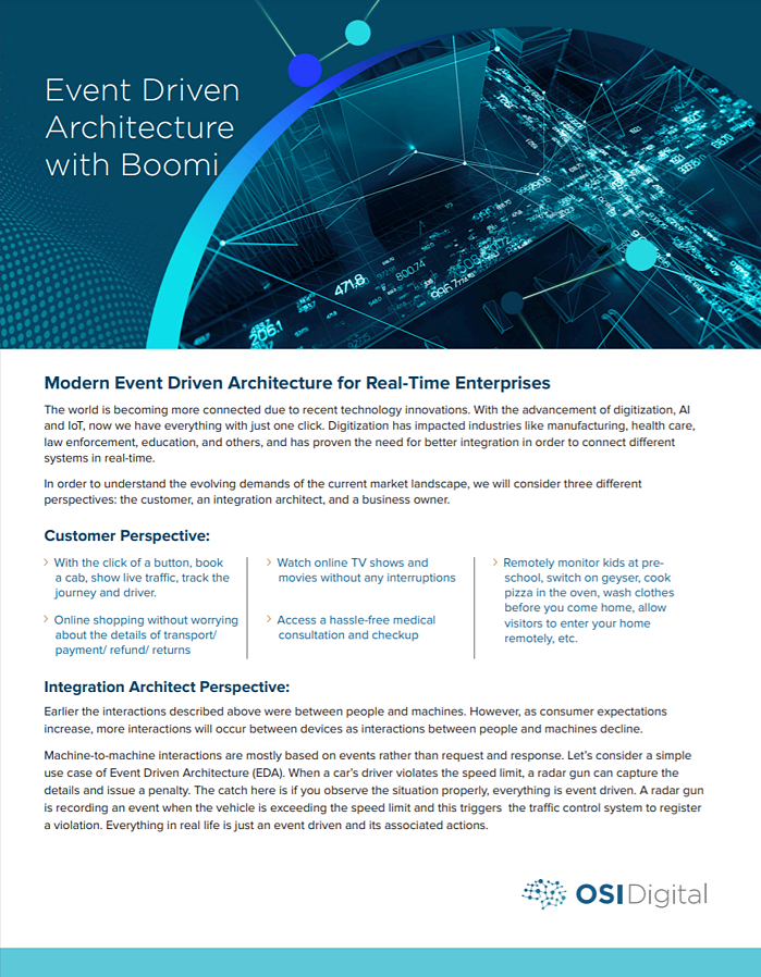White Paper:Event Driven Architecture with Boomi