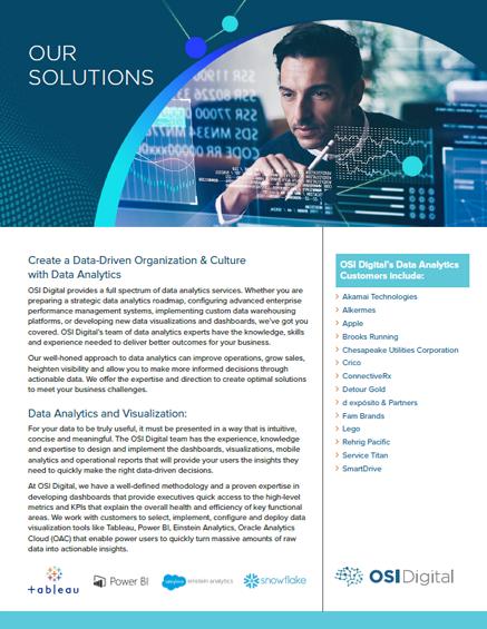 Data Sheet: Creating a Data-Driven Organization with Data Analytics