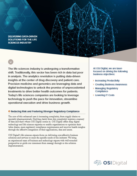 Data Sheet: Delivering Data-Driven Solutions for the Life Sciences Industry