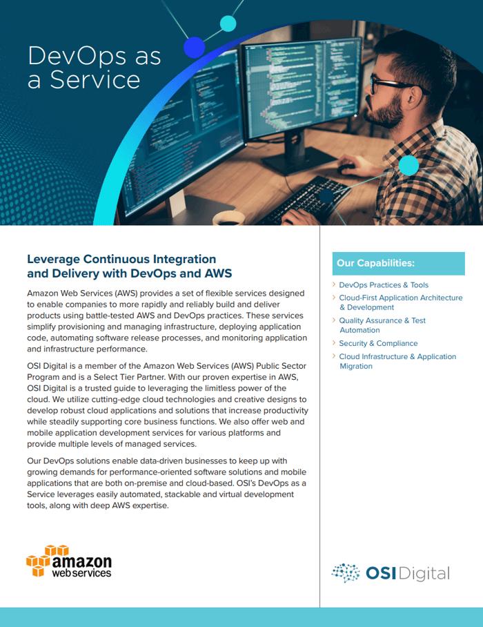 Data Sheet:DevOps as a Service