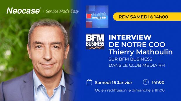 Thierry Mathoulin annonce 50 recrutements d'ici 2022 dans le Club Média RH sur BFM Business