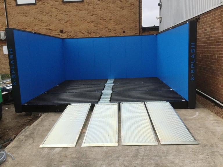 East Midlands Forklifts link with our X-Splash wash bay