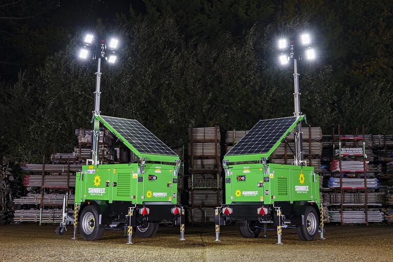 Sunbelt Rentals invest £12 million in our lighting towers