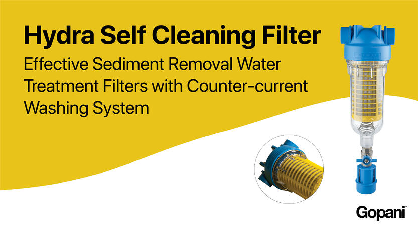 Hydra - Cost Saving Reusable Filters with Self Cleaning System
