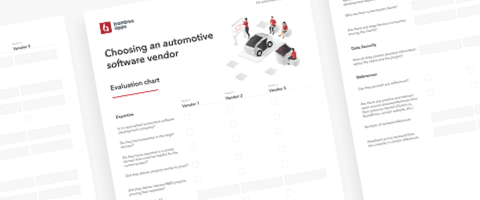Vendor Evaluation Chart for Automotive Companies