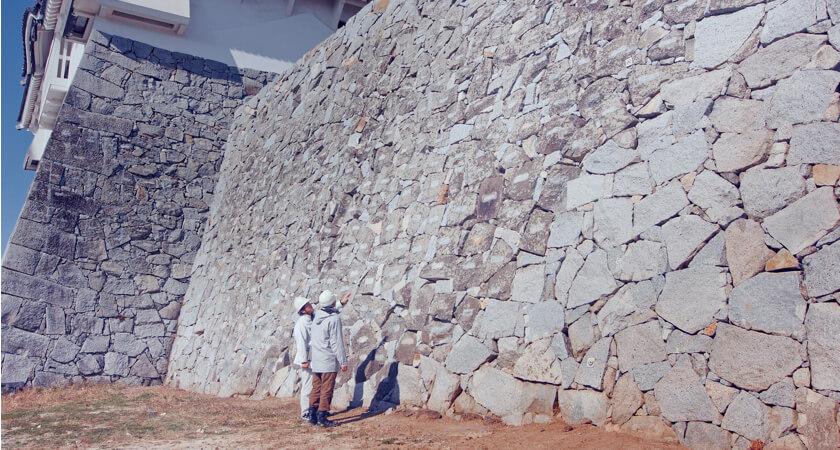 Karatsu Castle walls