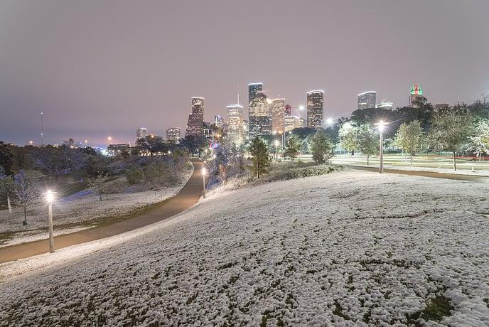 Snow in Houston
