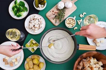 Pakka Cashew Fondue – die vegane Alternative