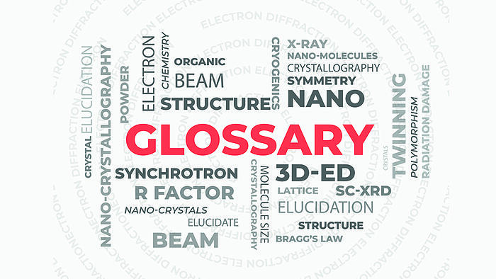 All things crystallography: introducing the ED glossary