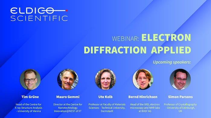 New webinar on electron diffraction