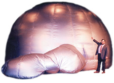 sky dome planetarium mobile ed productions astronomy school assembly program show inflatable platerarium solar system stars constellations educational