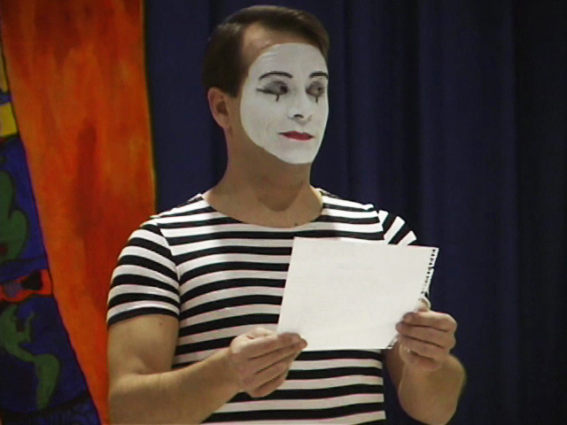 mime young authors day writing workshop school assembly program