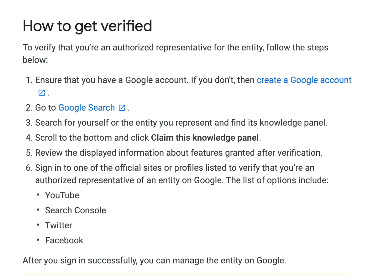 How to get verified instructions