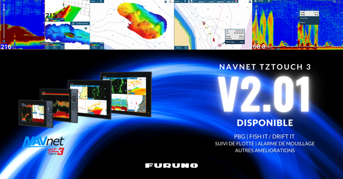Nouvelle version de logiciel V2.01 NavNet TZtouch 3 disponible