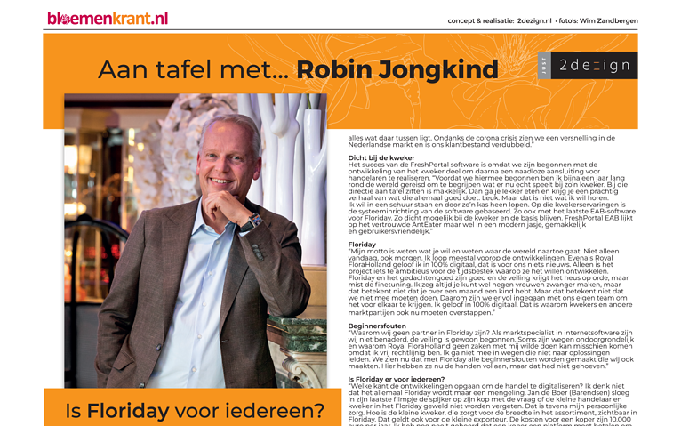 FreshPortal in de Bloemenkrant: Is Floriday voor iedereen?