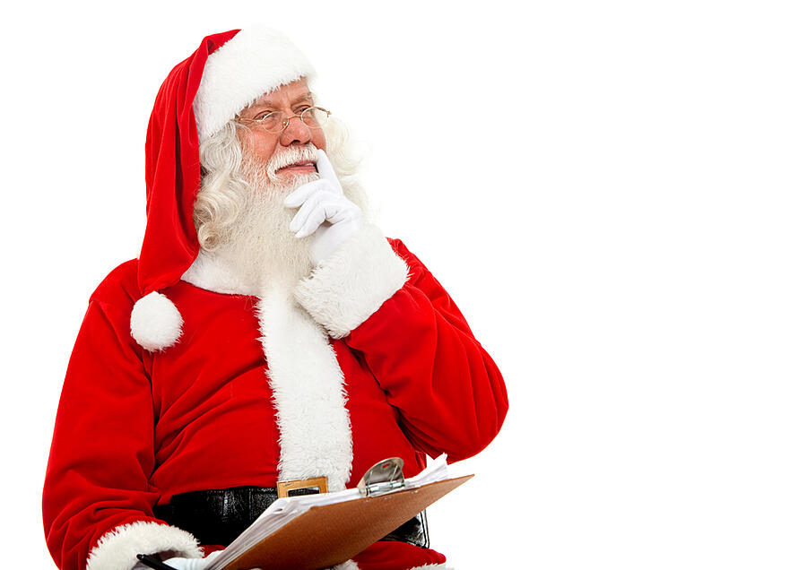 Santa is checking his list and he says you should check your hearing before Christmas.