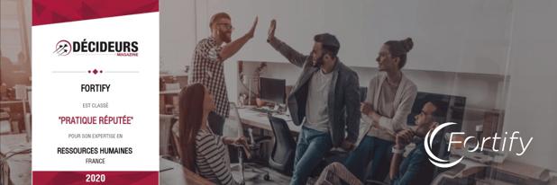 Fortify est fier d'intégrer le classement 2020 de Decideurs Magazine