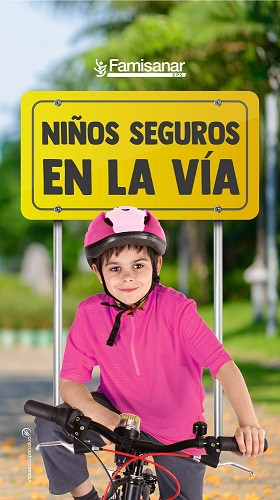 ¡Niños seguros en la vía!