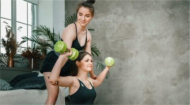 ¡Hacer pesas en casa requiere de tu responsabilidad!