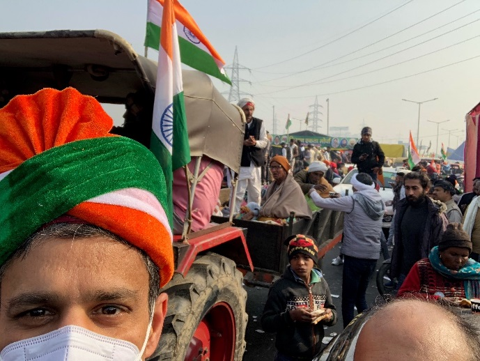 On the road in India with protesting farmers