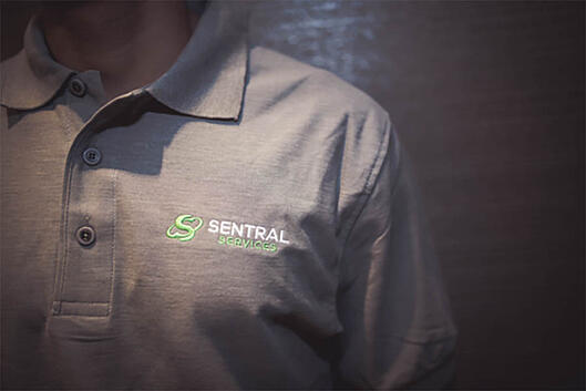 Sentral Services shirt with logo