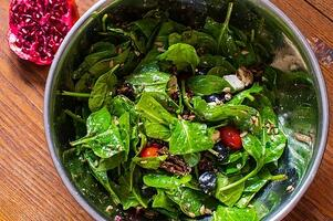 Simple-Summer-Salad-with-fruit-and-nuts-Maple-Mustard-Dressing