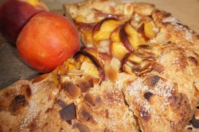 VVegan Almond Peach Galette
