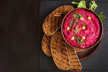 Vibrant-Homemade-Beetroot-Hummus-Dip