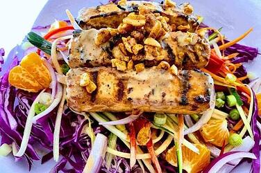 Vegan-Grilled-Tofu-Satay-on-Zucchini-Slaw-Salad
