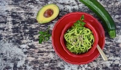 VGrilled Southwest Zucchini Noodle with Cilantro Pesto