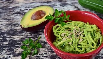 Grilled-Southwest-Zucchini-Zoodles-with-Cilantro-Pesto