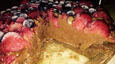 VRaw Chocolate Mix Berry Pie