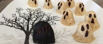 VHalloween Ghosts No Bake Macaroons Cookies
