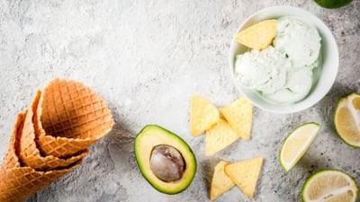 VDairy-Free Vegan Coconut Avocado Ice Cream