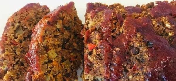 Vegan Lentil Meatless Meatloaf