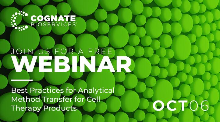 WEBINAR: Best Practices for Analytical Method Transfer for Cell Therapy Products
