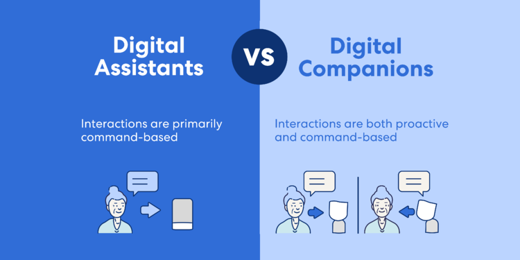 digital assistants vs digital companions