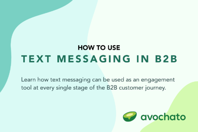 How to use text messaging in B2B