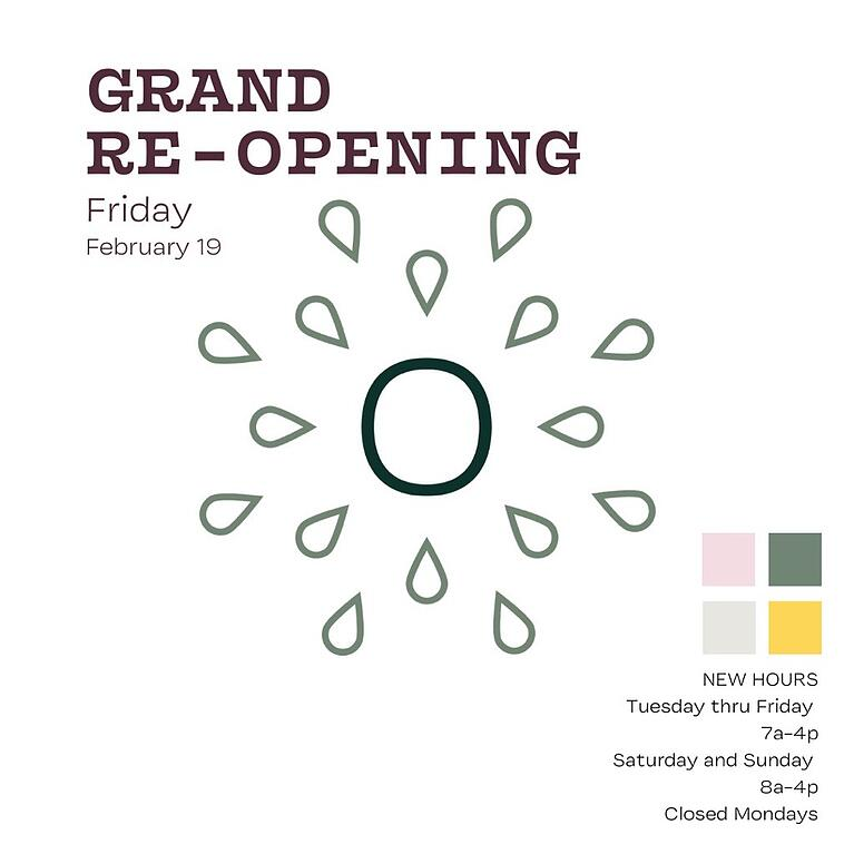 Overflow Coffee now open! Join us for our grand opening celebrations.