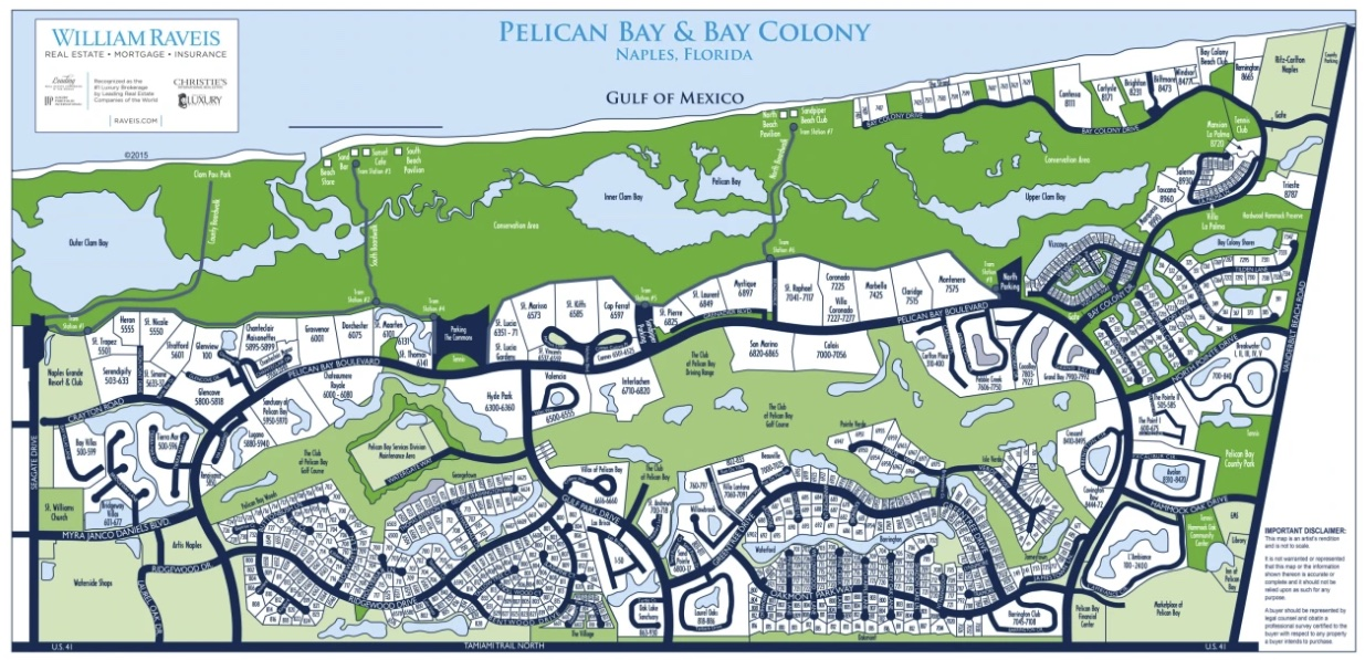 Pelican Bay and Bay Colony Map