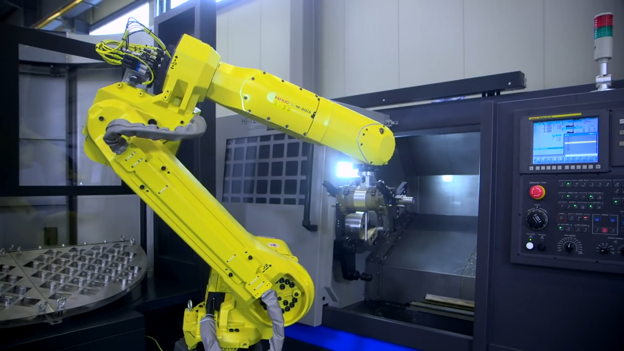 Halter cnc loading robot