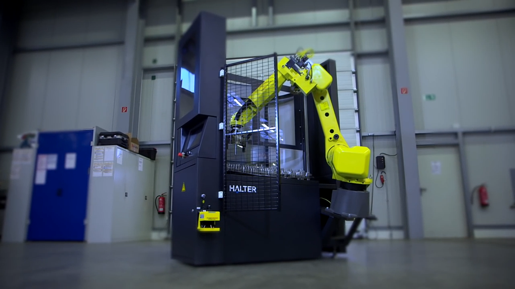 CNC loading robot