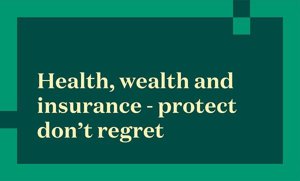 health wealth and insurance title slide
